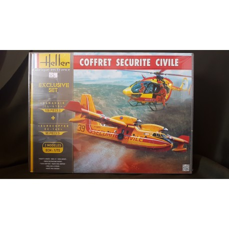 COFFRET MAQUETTE HELLER SECURITE CIVILE - 2 MODELES INCLUS- 1/72