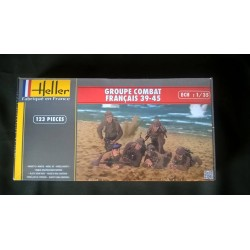 Figurine - HELLER - GROUPE COMBAT FRANCAIS 39-45 - Echelle 1/35