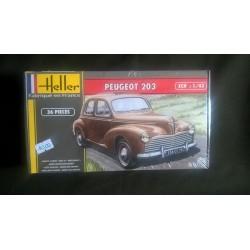 Maquette - HELLER - PEUGEOT 203 - Echelle 1/43