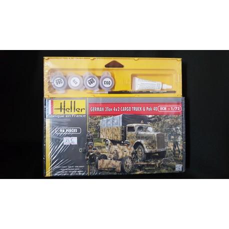 Maquette - HELLER - GERMAN 3 TON 4X2 CARGO TRUCK - Echelle 1/72