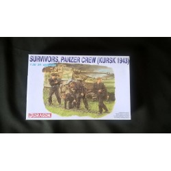 Figurine - DRAGON - SURVIVORS PANZER CREW (KURSK 1943) - Echelle 1/35