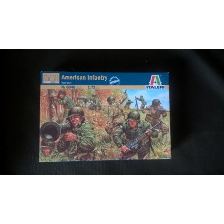 MAQUETTE-FIGURINES- ITALERI - AMERICAN INFANTRY- ECH 1/72- US WWII - REF 6046