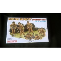 MAQUETTE-FIGURINES- DRAGON- BRITISH INFANTRY NORMANDY 44 - ECH 1/35- WWII - REF 6212