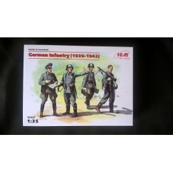 MAQUETTE FIGURINES ICM - GERMAN INFANTRY 1939- 1942 - ECH 1/35- REF 35639 - WWII