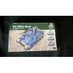 MAQUETTE ITALERI - M3/M3A1 STUART - WARLORD - ECH 1/56 - 28mm -REF 15761 - US - WWII