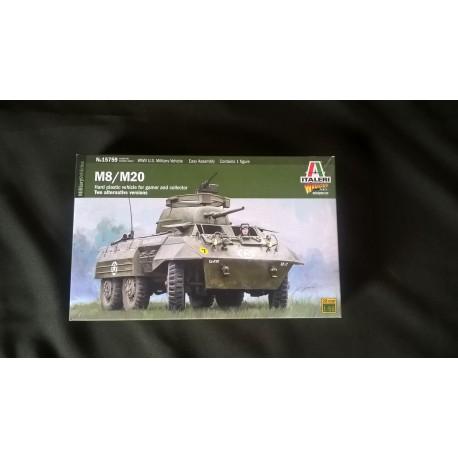 MAQUETTE ITALERI - M8 / M20 - WARLORD - ECH 1/56 - 28mm -REF 15759 - US - WWII