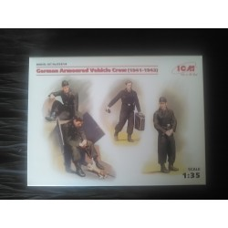 MAQUETTE FIGURINE ICM - REF 35614 - GERMAN ARMOURED VEHICLE CREW 1941 1942 - ECH 1/35