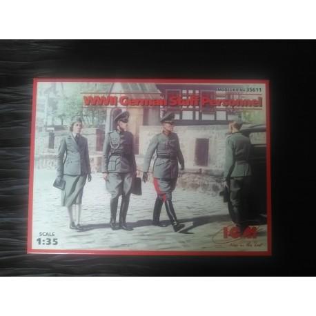 MAQUETTE FIGURINE ICM - REF 35611- GERMAN STAFF PERSONNEL - ECH 1/35