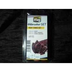 PEINTURE MIG - OILBRUSCHER -RUST TONES SET -REF A-MIG-7501
