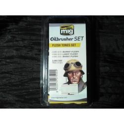 PEINTURE MIG - OILBRUSCHER - FLESH TONES SET -REF A-MIG-7500