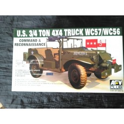 MAQUETTE AFV CLUB - REF AF35S16 - US 3/4 TON 4X4 TRUCK - WC57/WC56 - COMMAND CAR - ECH 1/35 - WWII - INDOCHINE - ALGERIE