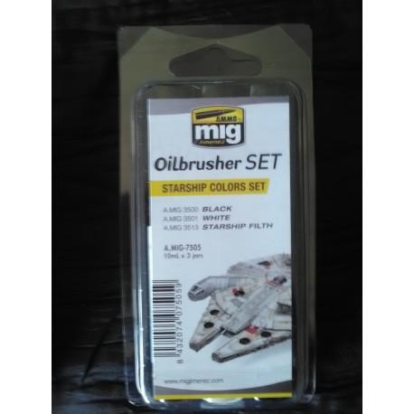 PEINTURE MIG - OILBRUSCHER - STARSHIP SET -REF A-MIG-7505