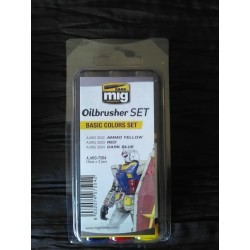 PEINTURE MIG - OILBRUSCHER - BASIC COLORS SET -REF A-MIG-7504