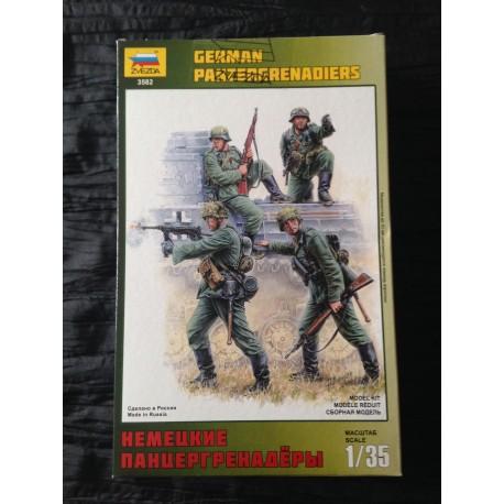 MAQUETTE FIGURINE ZVEZDA - GERMAN PANZERGRENADIERS - ECH 1/35 - REF 3582 - WWII GERMAN