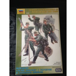 MAQUETTE FIGURINE - GERMAN 120 mm MORTAR 42 WITH TRAILER AND CREW - ECH 1/35 - REF : 3583 - WWII