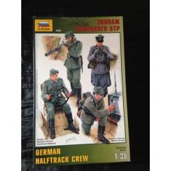 MAQUETTE FIGURINE -GERMAN HALFTRACK CREW - ECH 1/35 - REF 3885 - WWII