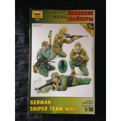 MAQUETTE FIGURINE - GERMAN SNIPER TEAM WWII - ECH 1/35 - REF 3595 - WWII - ZVEZDA