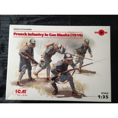 MAQUETTE ICM - FRENCH INFANTRY IN GAS MASKS 1916 - ECH 1/35- REF35696 - FRENCH WWI