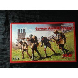 MAQUETTE ICM - GERMAN ASSAULT TROOPS 1917 1918 - ECH 1/35- REF35301 - GERMAN WWI