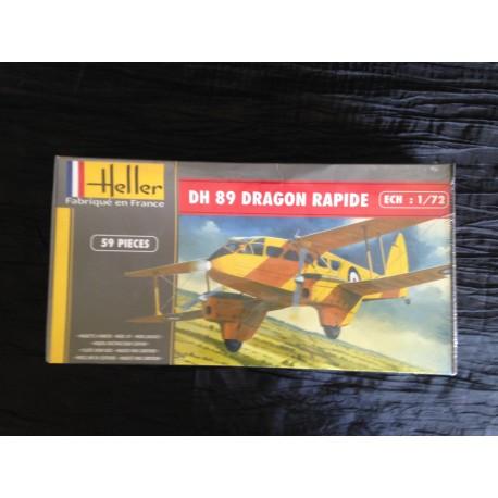 MAQUETTE HELLER - AVION - DH 89 DRAGON RAPIDE - REF 80345 - ECH 1/72
