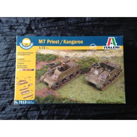 MAQUETTE ITALERI - ECH 1/72 - M7 PRIEST / KANGAROO - REF 7513 - US ARMY - WWII - 2 DB