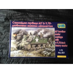 MAQUETTE UNIVERSAL MODEL - ECH 1/72 - M7 HOWITZER - REF 451 - WWII - US ARMY