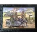 MAQUETTE IBG MODEL - ECH 1/35 - BMW R12 SIDE CAR - REF 35002 - WWII - GERMAN ARMY