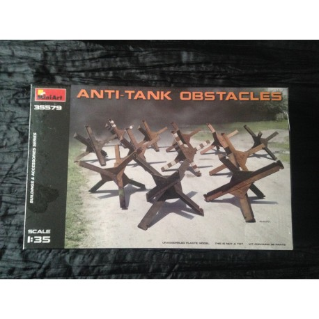 MAQUETTE MINIART - ECH 1/35 -ANTI-TANK OBSTACLES- REF 35579 - GERMAN ARMY