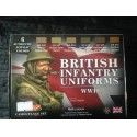 MAQUETTE PEINTURE LIFECOLOR - BRITISH INFANTRY UNIFORMS - WWII - REF CS 41