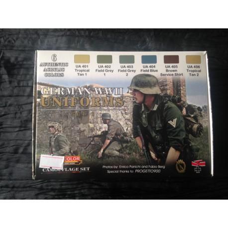 MAQUETTE PEINTURE LIFECOLOR - GERMAN WWII UNIFORMS - REF CS 04