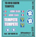Décals 2DB - JAPMODELS - TDM10 - TEMPETE - JAP RBFM 33 - Echelle 1/35