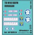 Decals 2 DB - JAPMODELS- RBFM - TDM10 - OURAGAN - JAP RBFM 34 - ECH 1/35