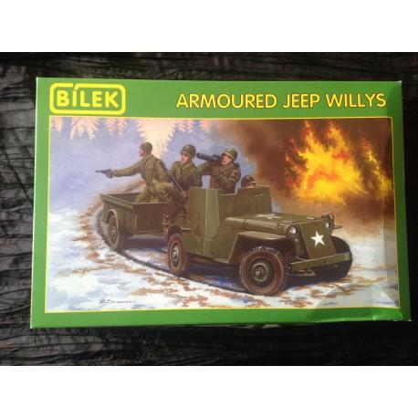 MAQUETTE BILEK - ARMOURED JEEP WILLYS - REF 890 - ECH 1/35 - WW2 - US ARMY 2 DB
