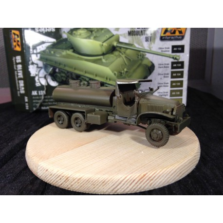 MAQUETTE JAPMODELS - KIT GMC TANKER WATER - ECH 1/72 - POUR BASE HELLER
