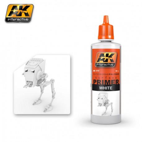 PEINTURE AK - PRIMER WHITE - AK 177 - BLANC