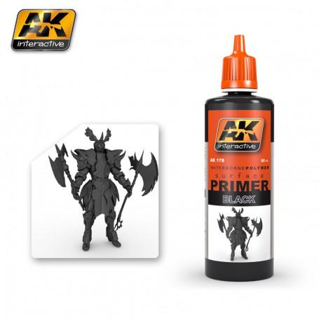 PEINTURE AK - PRIMER BLACK - AK 178 - NOIR