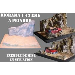 DIORAMA MAQUETTE LE RALLYE 1/43