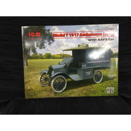 MAQUETTE ICM - MODEL T 1917 AMBULANCE EARLY - ECH 1/35 REF 35665
