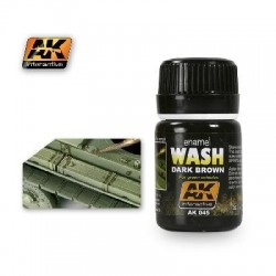 PEINTURE AK - Washes Dark Brown - AK 045