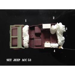 MAQUETTE JAPMODELS- EQUIPEMENT POUR JEEP - SET 1 - ECH :1/35 REF JAP ACC 53