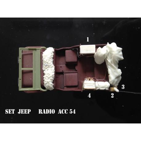 MAQUETTE JAPMODELS- EQUIPEMENT POUR JEEP RADIO - SET 2 - ECH :1/35 REF JAP ACC 54