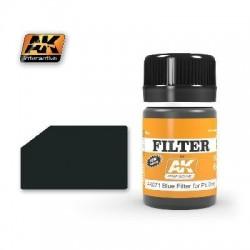 FILTRE BLEU FOR PANZER GREY - AK 071