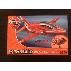 MAQUETTE AIRFIX -MONTAGE SANS COLLE - QUICK BUILD - RAF RED ARROWS HAWK