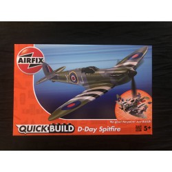 MAQUETTE AIRFIX -MONTAGE SANS COLLE - QUICK BUILD - D DAY SPITFIRE