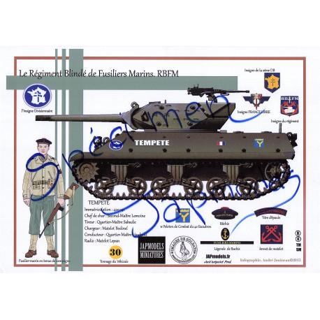 LITHOGRAPHIE - FORMAT A3 - JAPMODELS -RBFM - TD M10 TEMPETE