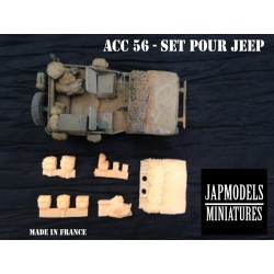 MAQUETTE JAPMODELS - RESINE JEEP - 1/35 ACC 56