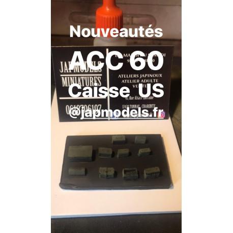 MAQUETTE JAPMODELS - CAISSE MUNITIONS US - SCALE 1/35 - REF JAP ACC 60
