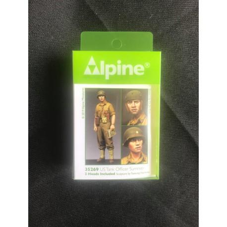 MAQUETTE ALPINE MINIATURE - US TANK OFFICIER - REF JAP ALP35269 - ECH 1/35
