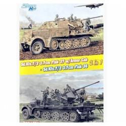 MAQUETTE DRAGON -Sd.Kfz.7/2 3.7cm Flak37 w/Armore - REF JAP 6953 - ECH 1/35d Cab x Sd.Kfz.7/2 3.7cm Flak36 2in1