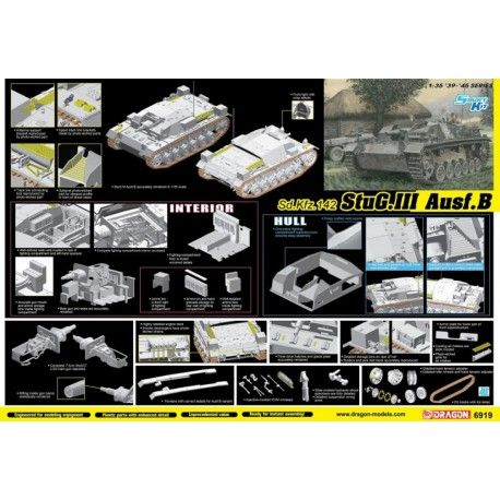 MAQUETTE DRAGON - Sd.Kfz.142 StuG.III Ausf.B - REF JAP DRA 6919 - ECH 1/35